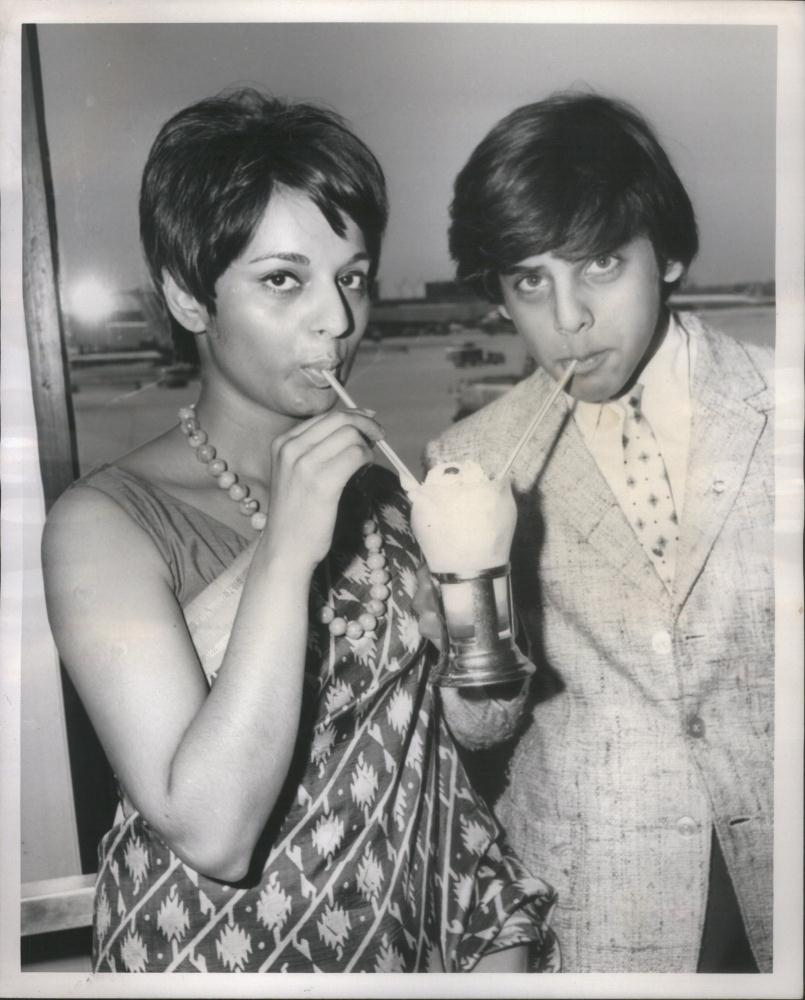 Indian Actor Sajid Khan with Air India Stowardoss Patol - 1966