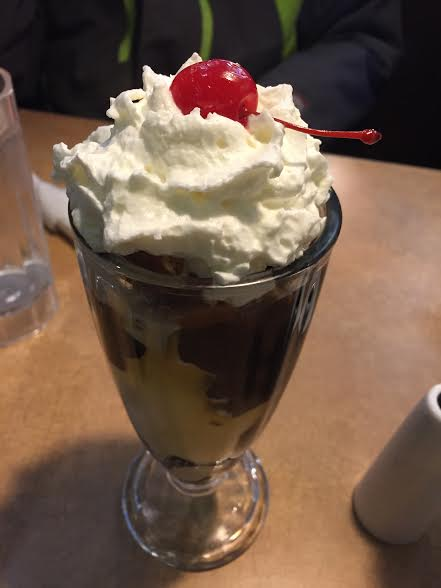 Turtle Sundae at Colonial Cafe in Crystal Lake, IL