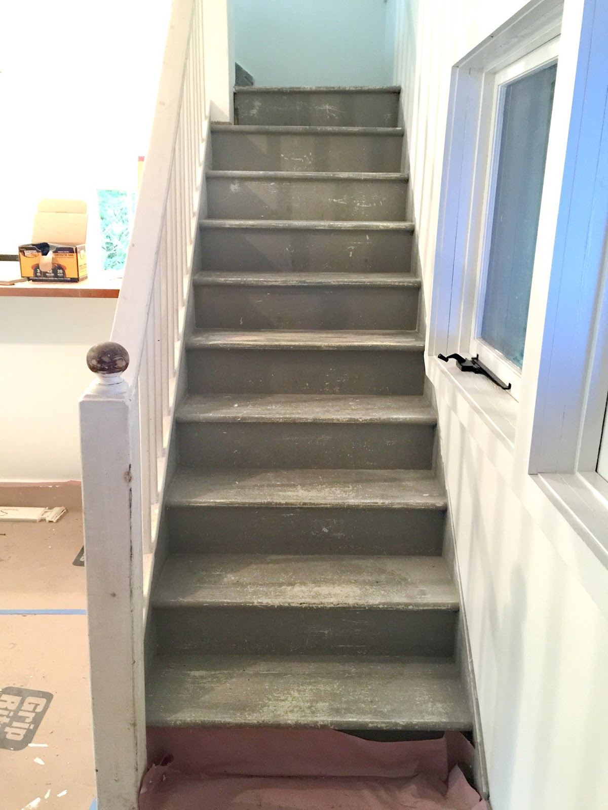 Facci Designs How To Paint A Staircase Black White Before And