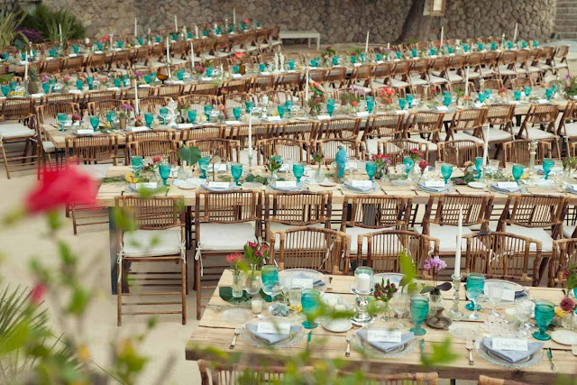 mesa boda decoración tropical wedding decor low cost ikea