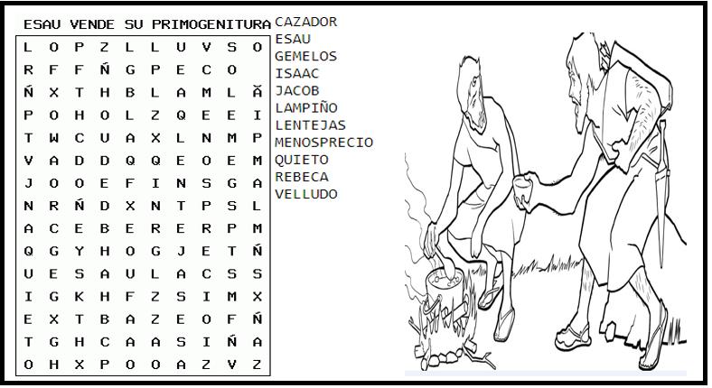 Contemporáneo Esau Y Jacob Para Colorear Patrón - Ideas Para ...