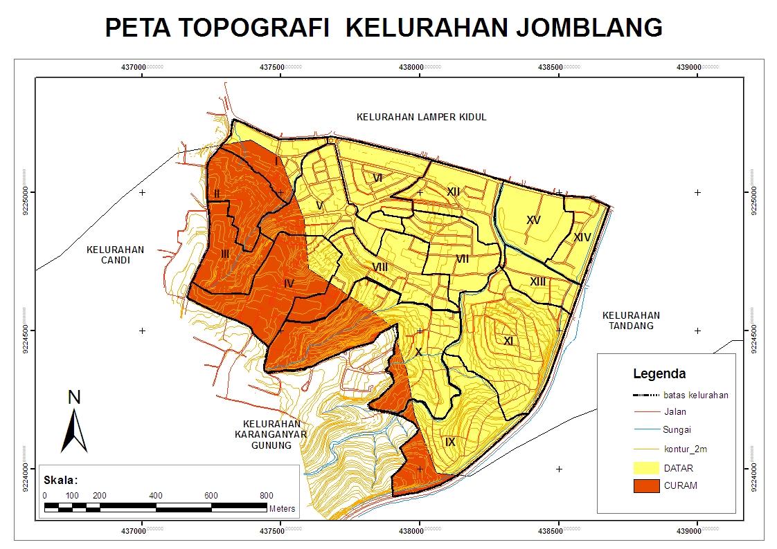 APL Jomblang: Peta Topografi Kelurahan Jomblang