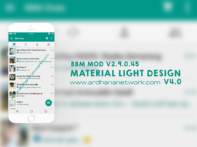 BBM Material Light V4.0 - Simple and Stylish