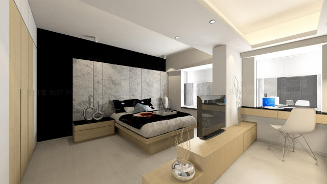 海逸豪園睡房室內設計,Laguna Verde bedroom interior design