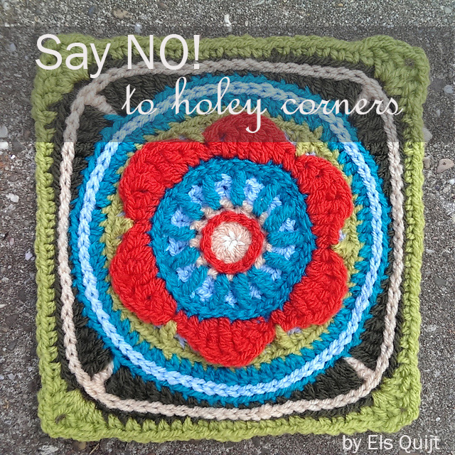 Crochet TIP - How to fix holey corners in granny squares