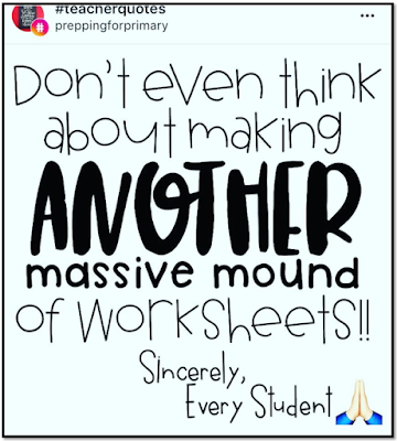 Blog post on the ineffectiveness of worksheets, the rationale for avoiding them, examples of alternative approaches.