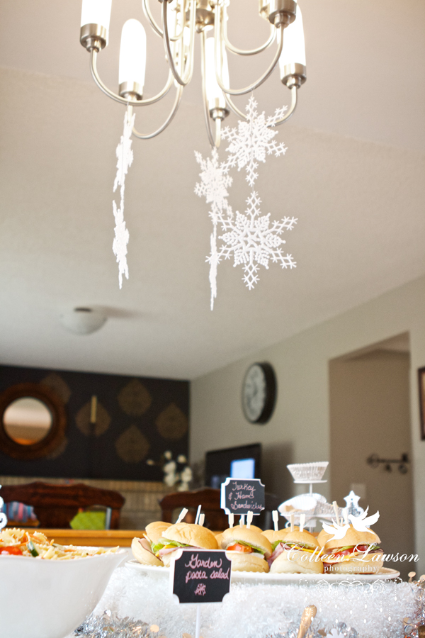 Snowy winter tablescape