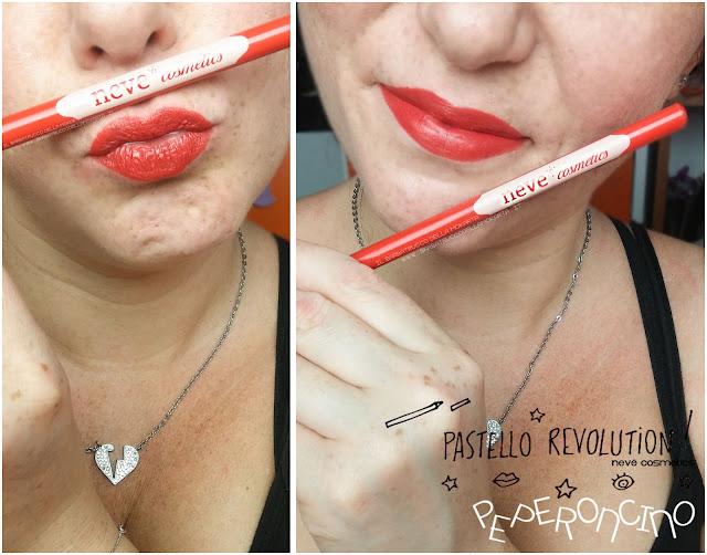 peperoncino applicazione makeup BioPastello labbra Neve Cosmetics  pastello revolution