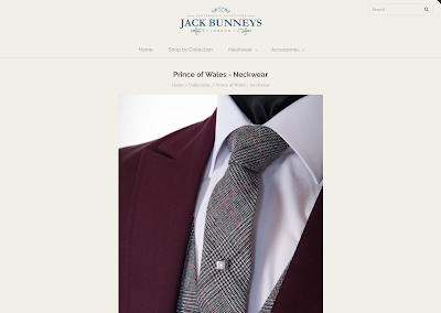mens flannel prince of wales wedding tie from jack bunneys
