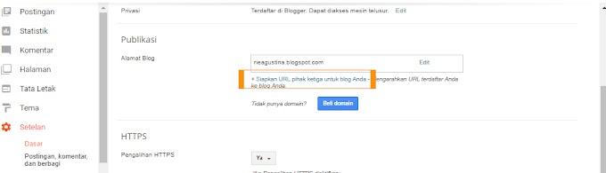Mengubah domain blogspot menjadi domain .com dengan Niagahoster