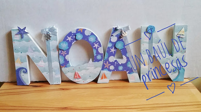 Letras decoradas NOAN