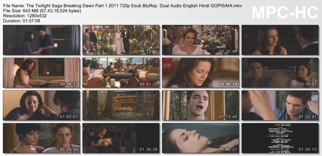 The Twilight Saga Breaking Dawn - Part 1 2011 BRRip 480p Dual Audio Eng-Hindi