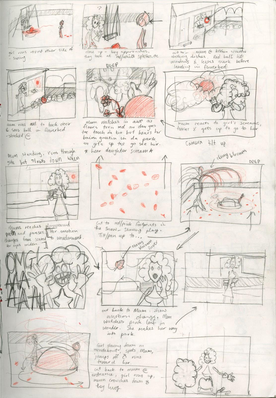 Contamination Animation: Rough Storyboard Thumbnails
