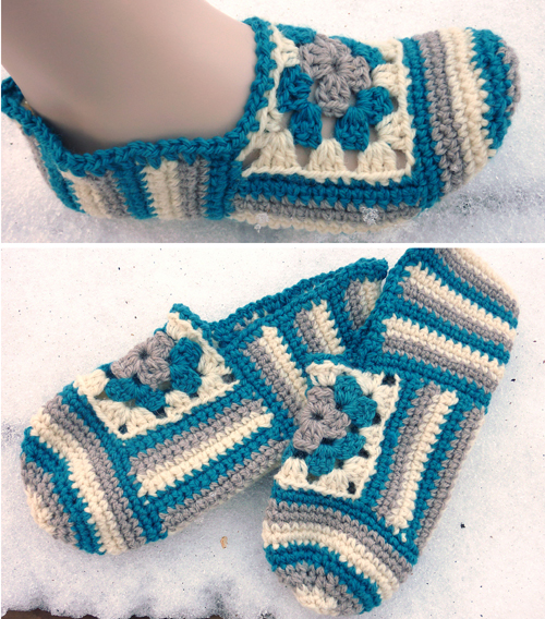 Granny Rose Slippers - Free Pattern