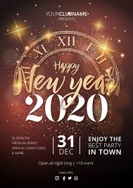 Poster of Happy New Year 2020. Image source: freepik.com