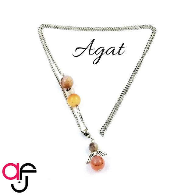 Naszyjnik – Anioł i Agat
