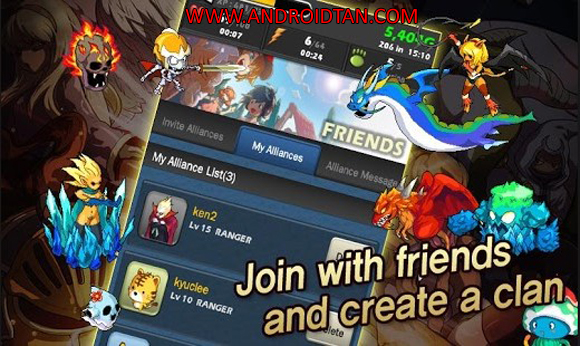Free Download Monster Warlord Mod Apk v3.5.1 Android Full Latest Version Terbaru 2017 Gratis