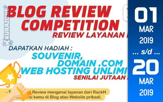 Kompetisi Blog - RACKH Berhadiah Paket Cloud Hosting, Domain dan Souvenir (20 Maret 2019)