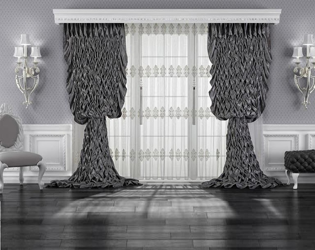 White Curtains black and white curtains for sale : Ready made curtains VS custom curtains: Models and guide to choosing