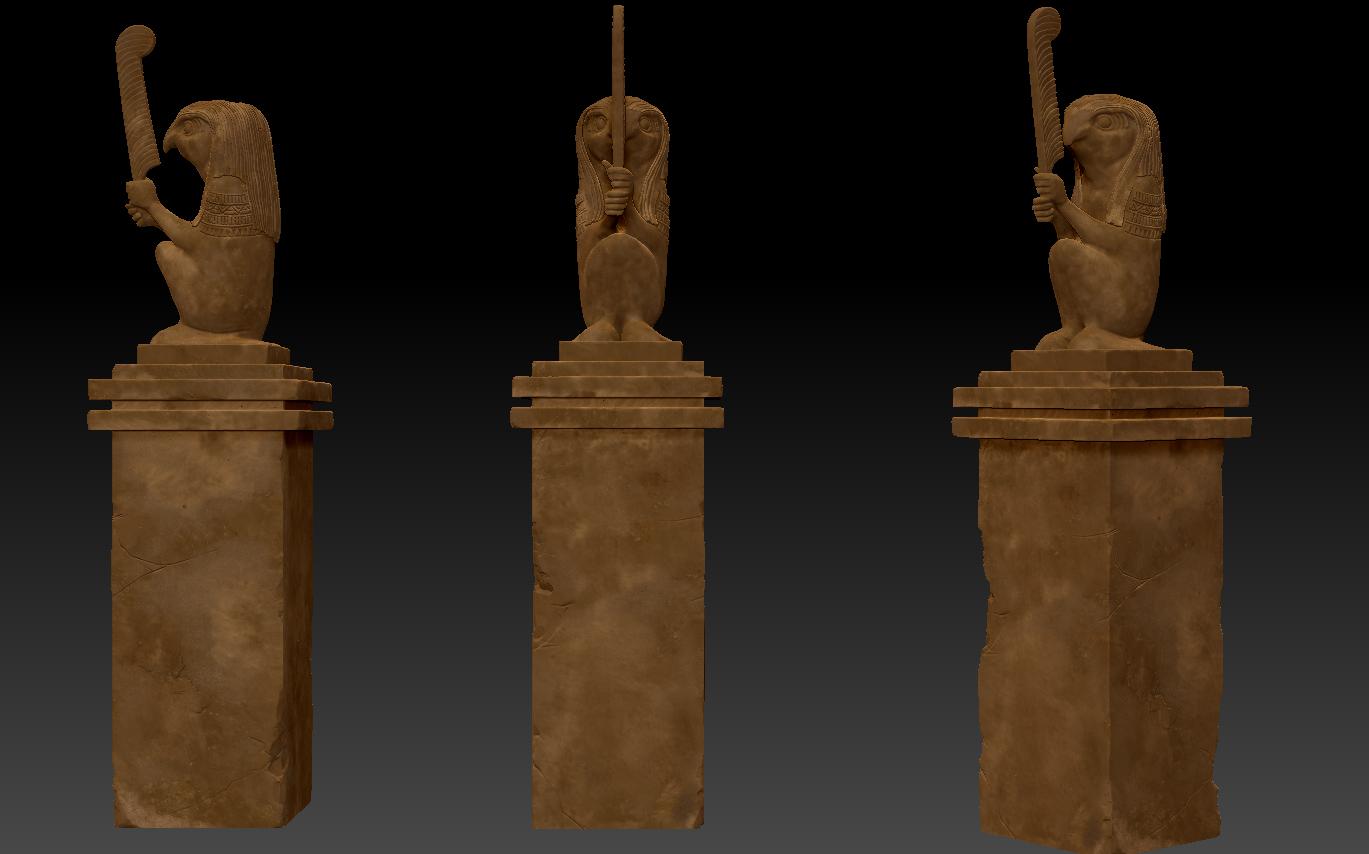 Kelvin Tam 3d blog: Statue texture wip(zbrush)