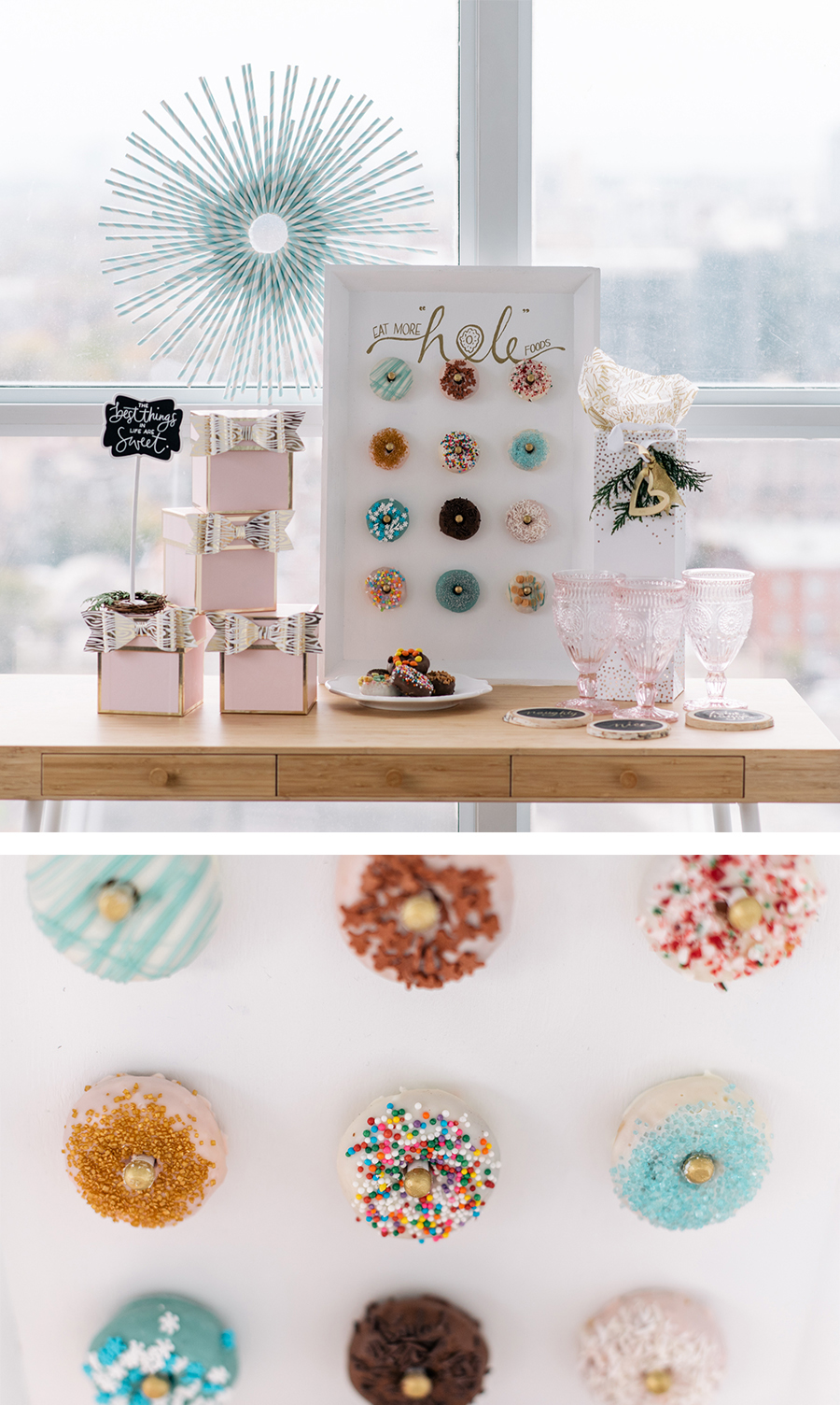 sweet DIY - donut display board for the holidays and beyond | Lorrie Everitt Studio