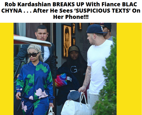 Rob Kardashian found 'suspicious texts' on Blac Chyna's phone?