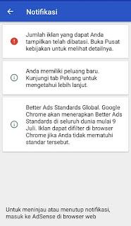 Penyebab penayangan iklan google adsense dibatasi