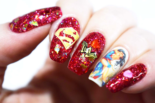 Superman and Wonder Woman love nerdy nails