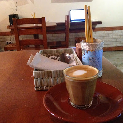 Enjoying Piccolo Latte in Cebu City