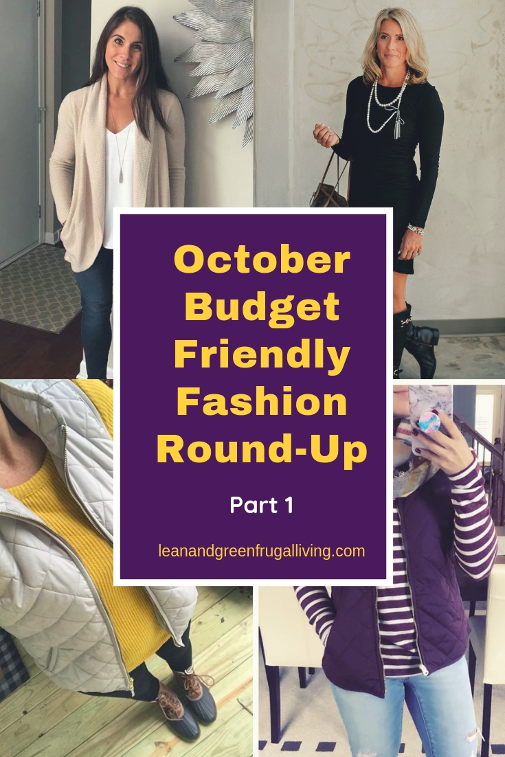 October Budget Friendly Fashion Round-Up Part 1