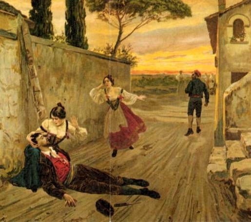 Anónimo - Ilustración para una edición temprana de Cavalleria Rusticana - c. 1880
