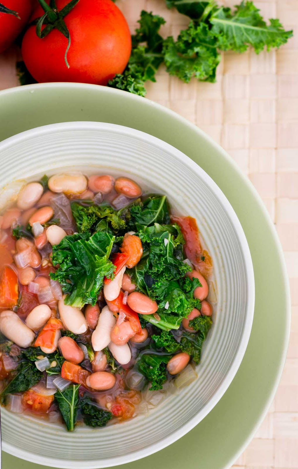 Mark and Spencer's copy cat Kale Tomato Beans and Fennel Soup photo
