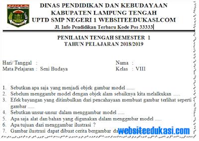 Soal PTS/ UTS Seni Budaya Kelas 8 Semester 1 K13 Tahun 2018/2019