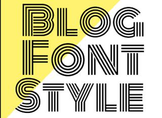 Memilih Jenis Huruf atau Font Yang Baik Untuk Blog