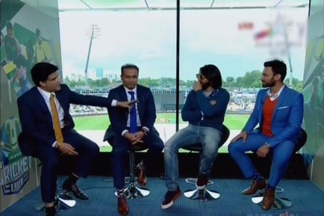 इंडिया-पाक मैच के दौरान कंमेंट्री करते हुए