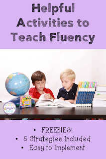 Fluency skills are necessary in developing strong readers! This blog post contains numerous teaching strategies and FREEBIES that can be used in class tomorrow! These strategies are perfect for all age groups from Kindergarten level through Upper Elementary students. Suggested activities work well for centers, small group, or whole group teaching. Your struggling readers will soar in no time! {Kindergarten, First, Second, Third, and Fourth Graders}