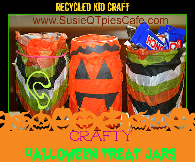 Susieqtpies Cafe Crafty Halloween Candy Jar