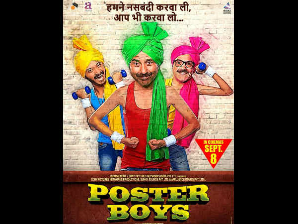 Poster Boys new upcoming movie first look, Poster of Sunny Deol, Bobby Deol, Shreyas Talpade download first look Poster, release date