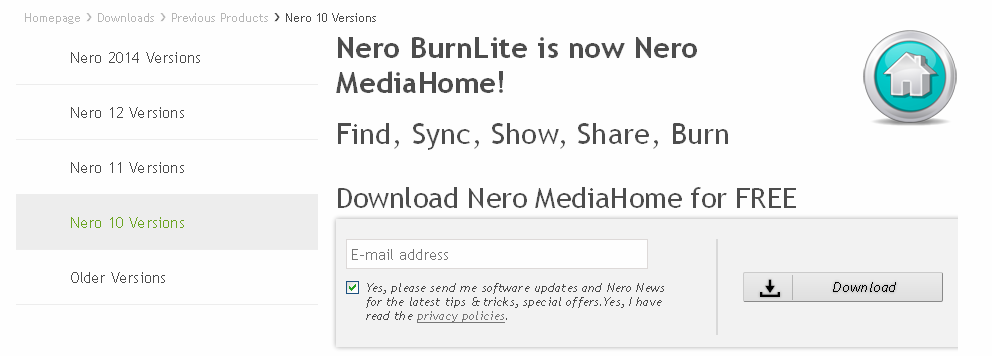 Descarca gratis Nero MediaHome