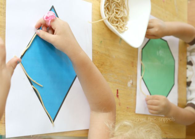 free printable shape mats
