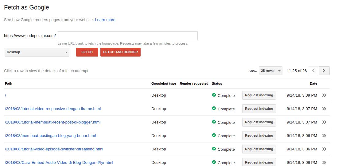 Cara Submit URL Terbaru di Google Webmaster New Version