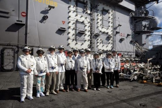 Distinguished Visitors of the USS Dwight D. Eisenhower