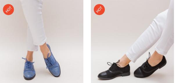 Pantofi casual dama albastri, negri frumosi la moda 2019