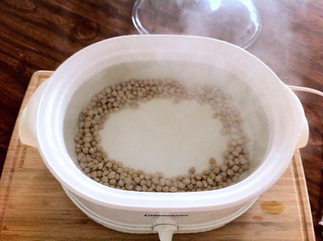 Boiling Water Added to Beans