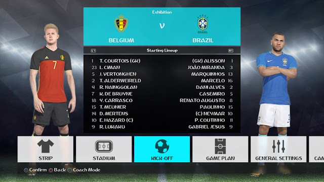 PES 2018 New Font Like World Cup 2018 dari Cao Viet An
