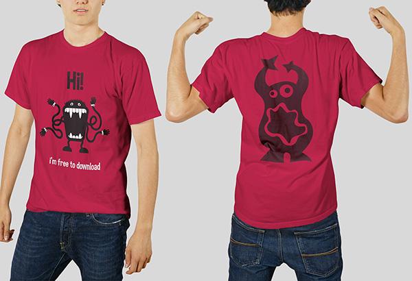 Download T-shirt Mockup PSD Terbaru Gratis - Tshirt Mockup Front & Back