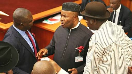 Akpabio Warns Saraki: Resign Now Or We Force You Out