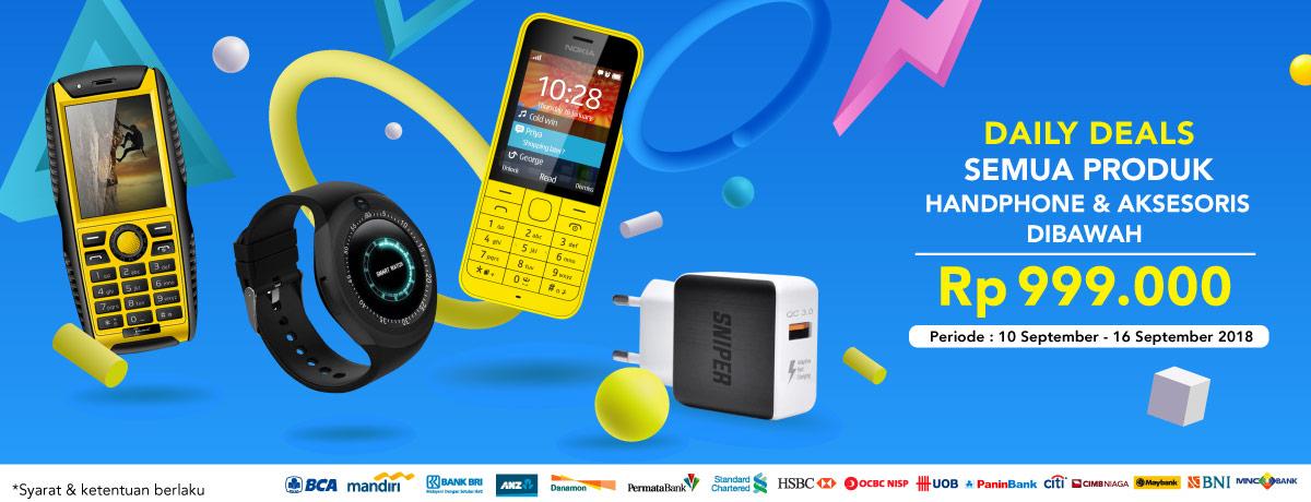 Blibli - Promo Daily Deal Handphone & Aksesoris Dibawah 999 Ribu (s.d 16 Sept 2018)