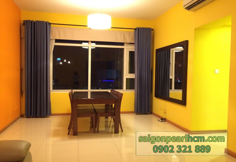 Cho thuê căn hộ Quận Bình Thạnh Saigon Pearl - bàn ghế phòng ăn