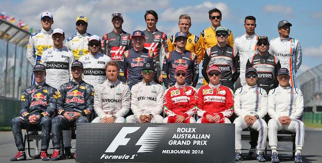 Daftar Nama Tim dan Pembalap Driver Formula 1 2016